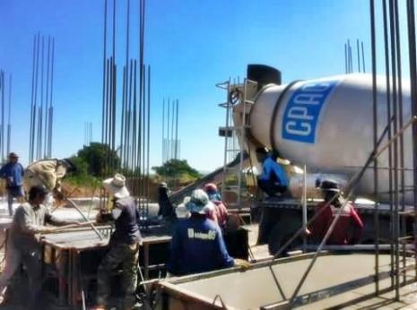 ภาพตัวอย่าง บริการเทคอนกรีตผสมเสร็จ ปูนมิกซ์ concrete ready mix cpac2