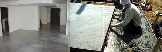 concrete การเทพื้นคอนกรีตับพื้นคอนกรีตซีเมนต์เดิม